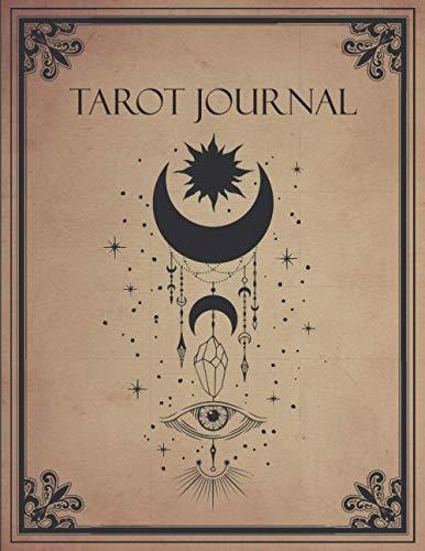 "Tarot Journal: 3 Card Spread Reading - Celestial Mystical Moon Design - 8.5"" x 11"""