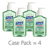 PURELL Advanced Hand Sanitizer Soothing Gel for workplaces, Fresh Scent, with Aloe and Vitamin E- 8 fl oz Pump Bottle (Pack of 4) - 9674-06-EC