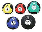 CanDo Rubber Medicine Balls, Set of five, 2, 4, 7, 11 and 15 lbs