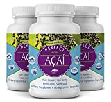 Perfect Supplements – Perfect Acai – 120 Capsules – Pure Organic Freeze-Dried Acai Berry Superfood - Powerful Antioxidants - Immune Support – 3 Pack