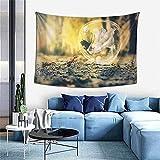 Tapiz de cama de camello, tapiz de pared con impresión 3D, tapiz de pared para dormitorio, sala de estar, dormitorio (40 x 60 pulgadas)