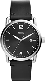 Fossil Men's Black Dial Mixed Band Watch - FS5407