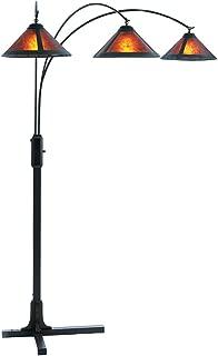 NOVA of California 4212BZ 3 Light Arc Lamp, Dark Brown