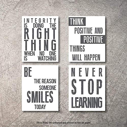 Inspirational Wall Art Poster Prints Quote Positive Affirmation Motivational Wall Art Quotes Pictures fun Office Wall Decor Artwork Art for living room bedroom walls office art (W-Chalk, 11x14)
