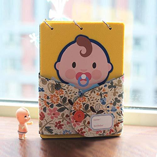 EDCV DIY-papier Dagboek Handgeschilderd geheugenboek Fotoalbum Plakboek voor kinderen Baby Kids Blank Cover Album, Baby Boy
