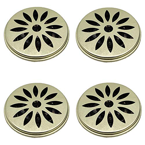Minelife 4 Pack Mosquito Coil Holder, Mosquito Coil Incense Burner with Cover for Outdoor Use, Deck, Patio, Pool Side, Camping, Hiking and Fishing
