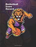 Basketball Score Record Game Book Keeper Fouls Scoring Free Throws Running Score for home and visiting teams: 8.5 x 11-inch with extra lined pages for personal notes
