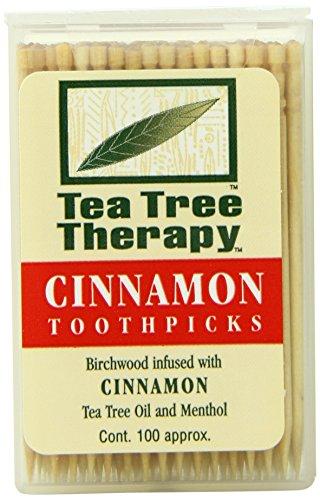 Teebaum-Therapie-Zahnstocher, Zimt, 100 Stück