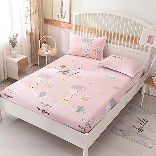 HPPSLT Matratzen-Bett-Schoner mit Spannumrandung | Betten und Wasserbetten geeignet Einzelbettlaken aus 100% Baumwolle, Vollbezug-17_135 * 200 cm