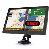 Truck Sat Nav, 2020 Latest 9 inch GPS Navigation for Trucks Lorry HGV Caravan, Satnav for Cars with POI Speed Camera Warning,Voice Guidance Lane,Free Lifetime Map Updates