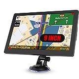Truck Sat Nav, 2021 Latest 9 inch GPS Navigation for Trucks Lorry HGV Caravan, Satnav for Cars with POI Speed Camera Warning,Voice Guidance Lane,Free Lifetime Map Updates