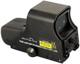 Minidiva 551 Holographic Sight Red Green Point Visier / Dot Anblick Bereich, 10 Stufen Helligkeit, passt in jede 20mm Schiene