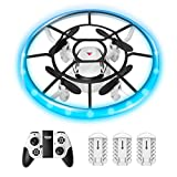 Mini Drone for Kids, RC Nano Small Quad-Copter, Altitude Hold, Headless Mode 3D Flips, One Key Return and Speed Adjustment, Best Drone Toy for Beginners Gift with 3 Batteries