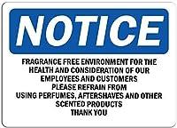 駐車場看板のお知らせ健康レトロな鉄の塗装のための無香料な環境金属ポスターの警告ガレージのためのプラークアートの装飾ホームガーデンストアバー