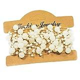 Mattierte Perlenkette Perlenband Perlengirlande Perlenschnur Weihnachten Advent Hochzeit Deko Tischdeko - 3