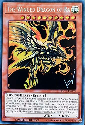 Carta Yugioh Yugioh con il drago alato della menta Ra Menta Yugioh | Dio leggendario del tuono, la carta di dio più potente | 2019 oro sarcofago singolo