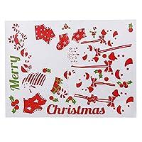 WEISUO 窓にしがみつくステッカー自己粘着性の取り外し可能なクリスマスのストッキングガラスの壁のステッカーのための壁のステッカークリスマスの装飾のクリスマスのステッカー