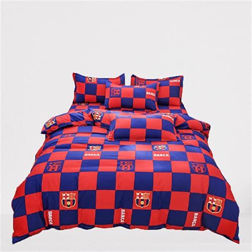 Funda Nórdica con Estampado Textil para El Hogar Ambiente De Moda Simple, Juego De 4 Piezas Suave Cómodo Y Fácil De Limpiar 150x200cm