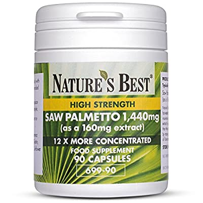 Saw Palmetto 1,400mg | 90 Capsules | One-a-day | 3 Month's Supply | High Strength Purest Grade Extract | Up To 12x More Concentrated Than Powdered Berries | Vegetable Oil base for Easy Absorption | UK Made