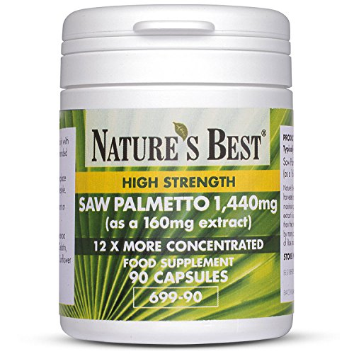 Saw Palmetto (Serenoa repens) 1,400mg - 90 Capsules - One-a-day – 3 Month's Supply - High strength– Up To 12x More Concentrated Than Powdered Berries - Vegetable Oil base for Easy Absorption – UK Made