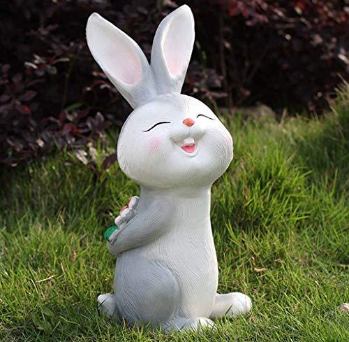 DAMAI STORE Ornamentos del Jardín De Conejo De Dibujos Animados Jardín De...