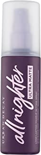 Urban Decay All Nighter Ultra Matte Setting Spray - Makeup Finishing Spray - Lasts Up To 16 Hours - Oil & Shine-Controlling Mist - Great for Oily Skin - 4.0 fl oz