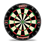 ONE80 Gladiator II Dartboard with Top-Grade African Sisal and Sword Edge Staple Free Wire Spider for Maximum Scoring Potential and Less Bounce Outs