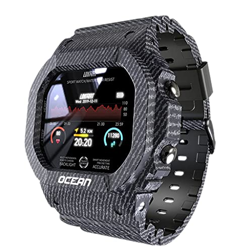 MERIGLARE Reloj Inteligente con Frecuencia Cardíaca, Deportes Múltiples, IP68, Resistente Al Agua para Hombres, Regalo - Azul
