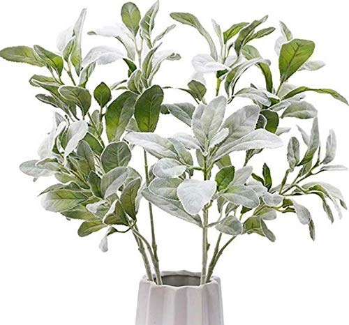 Artificial New Artificial Lambs Ear Picks Leaf Spray Large Greenery Branches Decor Leaves Get 3pcs MG017
