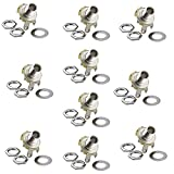 Honbay 10Pcs 1/4' Mono Jack Socket Stratocaster Replacement for Bass Electric Guitar