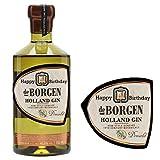 Etiqueta de botella de ginebra personalizable de Borgen Holland BL290 para cumpleaños en cualquier ocasión