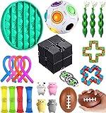 KTYX Pop It Fidget Toys Pack Set - Juguetes Antiestres 22 Piezas para Niños Autismo Y Adultos - Sensory Juguetes Autismo para Alivia el Estrés Y La Ansiedad - Juegos Antiestres Regalo
