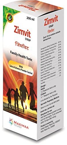 Proyurveda Weakness General Ayurvedic Health Tonic for Weakness, 200 ml (Zimvit Syrup)