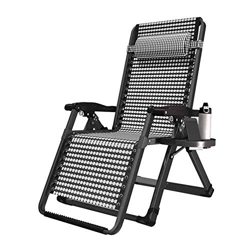 Liegestuhl – Zero Gravity Relax-Liegestuhl – Familie Mittagessen Garten verstellbar tragbar Lounge Stuhl
