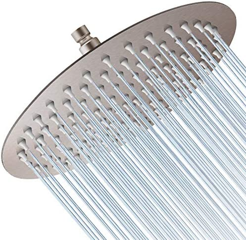 Rain Shower Head 12 Inch Large Round High Pressure Showerhead Ultra Thin Stainless Steel Whole product image