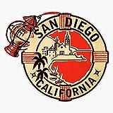 San Diego Vintage Travel Decal Usa Vinyl Decal Wall Laptop Bumper Sticker 5'