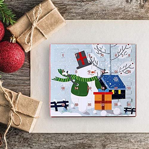mooderff Adventskalender met 24 dagen, countdown kalender, hanger, met halsketting, accessoires, voor meisjes en kinderen