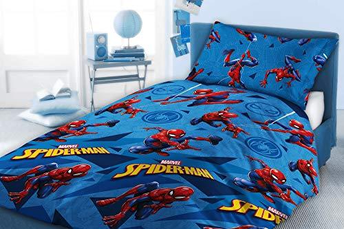 Marvel Comics Spiderman - Juego de funda de edredón reversible con fundas de almohada (individual)