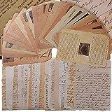 BETESSIN 50 pz Carta Decorativa Vintage per Scrapbooking Decorazione Fai da Te Biglietti d'auguri...