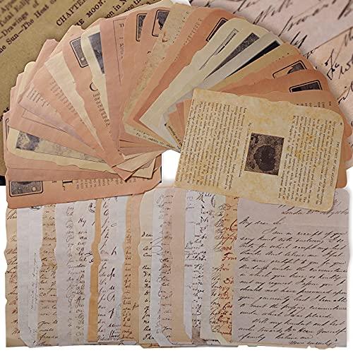50 Stk 12x17cm Scrapbooking Papier Deko Vintage Bastelpapier Dekopapier Designpapier Scrapbook Zubehör für Tagebuch Notizbuch DIY Kunst und Handwerk (Stil 2)