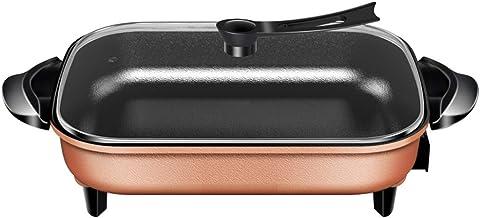 Sooiy Électrique Frying pan/rectangulaire en Or électrique Skillet/Multi-Fonction 6L Chaud électrique Pot/avec Couvercle e...