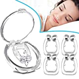 Snore Stopper Solution, Anti Snoring Devices, Anti Snore Nose Clip, Professional Snore Aid Nose Vents, Snore Nasal Dilators, Comfortable & Stop Snoring Devices for Peaceful Night - 4 PCS