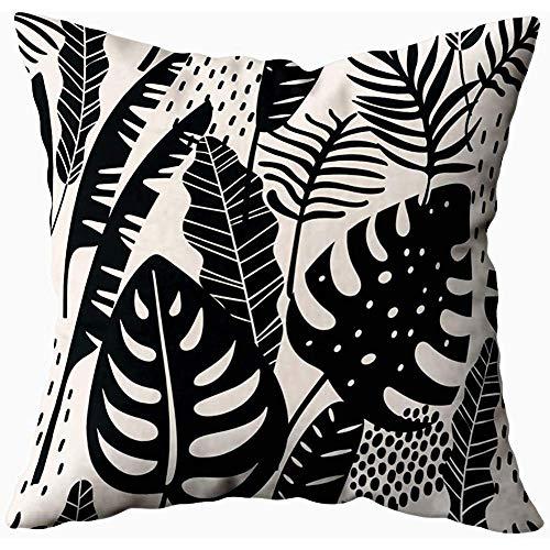 Tommy Warren Wurfs-Kissen umfasst abstraktes Muster mit tropischer Beschaffenheits-Schablone des Blatt-Handabgehobenen betrages
