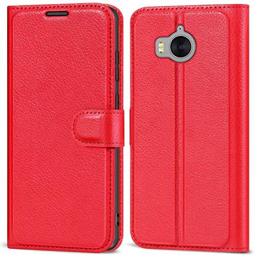 AOBOK Huawei Nova Young Mya-L11 Custodia, Portafoglio Cover Custodia Protettiva Portafoglio da Mano per Huawei Nova Young Mya-L11 Smartphone - Rosso