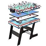 Combinación de Varios Juegos de Mesas de Juego Tabla 4 en 1 Plegable Entretenimiento Mesa de 47' for Mesa de Billar Mesa de Ping Pong Fútbol Foosball Tabla de Hockey tobogán for niños