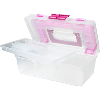 10-5//8 STERILITE 14261 14138606 Layer Stack /& Carry Box Clear