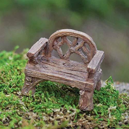 Pixieland Fairy Garden Miniatur-Holzstuhl, rustikal