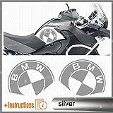 2pcs Adesivi Fianco Serbatoio compatibile con R1200GS Adventure 2008-2013 R 1200 GS Motorrad Moto R1200 ADV (silver)