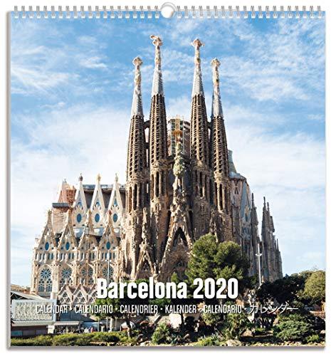 Erik® Barcelona Postkarten Kalender 2020 Wandkalender mittelgross (22,5 x 24 cm)
