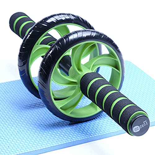 EURODO Fitness Ab Dual Wheel for Abdominal Training with Knee Mat -...